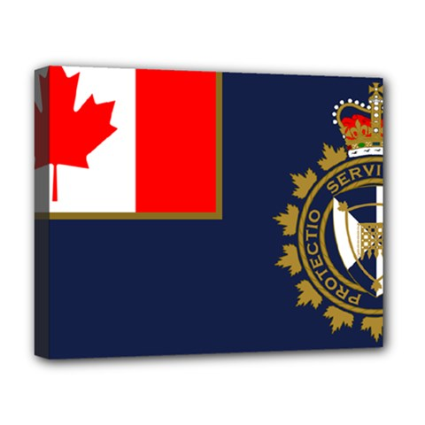Flag Of Canada Border Services Agency Deluxe Canvas 20  X 16  (stretched) by abbeyz71