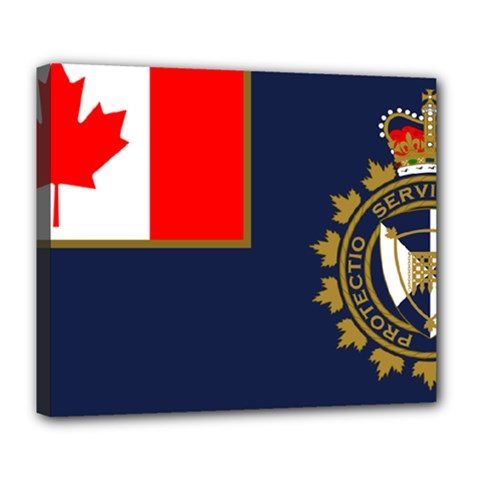 Flag Of Canada Border Services Agency Deluxe Canvas 24  X 20  (stretched) by abbeyz71