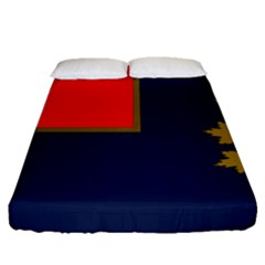 Flag Of Canada Border Services Agency Fitted Sheet (queen Size) by abbeyz71