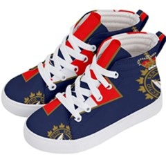 Flag Of Canada Border Services Agency Kid s Hi Top Skate Sneakers by abbeyz71