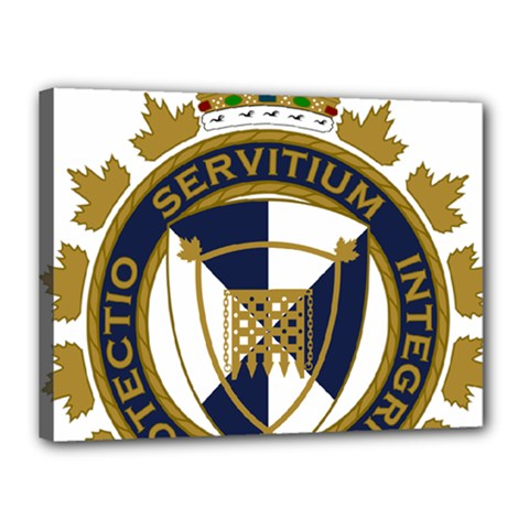 Badge Of Canada Border Services Agency Canvas 16  X 12  (stretched)