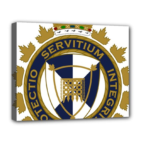 Badge Of Canada Border Services Agency Deluxe Canvas 20  X 16  (stretched) by abbeyz71