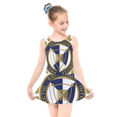 Badge Of Canada Border Services Agency Kids  Skater Dress Swimsuit by abbeyz71