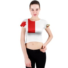 Flag Of Canadian Armed Forces Crew Neck Crop Top by abbeyz71