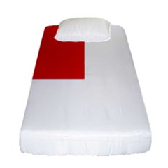 Flag Of Canadian Armed Forces Fitted Sheet (single Size) by abbeyz71