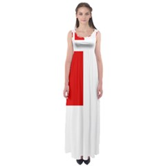 Flag Of Canadian Armed Forces Empire Waist Maxi Dress
