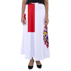 Flag Of Canadian Armed Forces Flared Maxi Skirt by abbeyz71