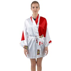 Flag Of Canadian Armed Forces Long Sleeve Kimono Robe