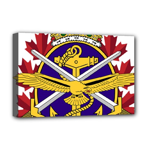 Badge Of Canadian Armed Forces Deluxe Canvas 18  X 12  (stretched) by abbeyz71