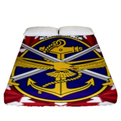 Badge Of Canadian Armed Forces Fitted Sheet (queen Size)