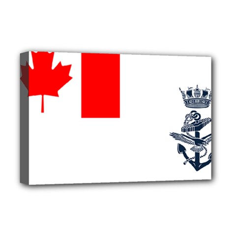 Naval Ensign Of Canada Deluxe Canvas 18  X 12  (stretched) by abbeyz71