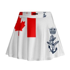 Naval Ensign Of Canada Mini Flare Skirt by abbeyz71