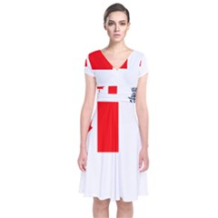 Naval Ensign Of Canada Short Sleeve Front Wrap Dress by abbeyz71