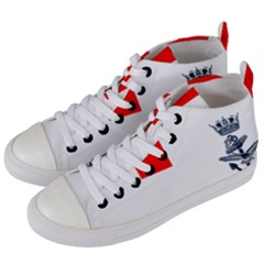 Naval Ensign Of Canada Women s Mid Top Canvas Sneakers by abbeyz71