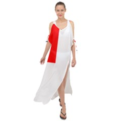 Naval Ensign Of Canada Maxi Chiffon Cover Up Dress by abbeyz71