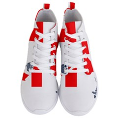 Naval Ensign Of Canada Men s Lightweight High Top Sneakers by abbeyz71