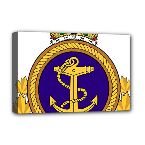 Badge Of Royal Canadian Navy Deluxe Canvas 18  X 12  (stretched) by abbeyz71