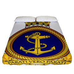 Badge Of Royal Canadian Navy Fitted Sheet (california King Size) by abbeyz71