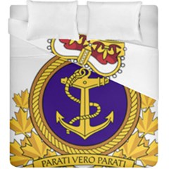 Badge Of Royal Canadian Navy Duvet Cover Double Side (king Size) by abbeyz71