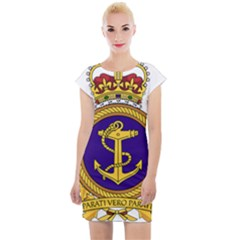 Badge Of Royal Canadian Navy Cap Sleeve Bodycon Dress