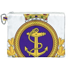 Badge Of Royal Canadian Navy Canvas Cosmetic Bag (xxl) by abbeyz71