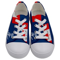 Canadian Naval Auxiliary Jack Kids  Low Top Canvas Sneakers