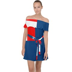 Canadian Naval Auxiliary Jack Off Shoulder Chiffon Dress