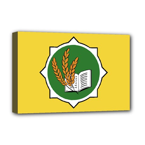 Flag Of Bozeman, Montana Deluxe Canvas 18  X 12  (stretched) by abbeyz71