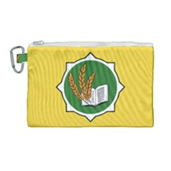 Flag Of Bozeman, Montana Canvas Cosmetic Bag (large) by abbeyz71