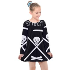 Flag Of Soviet Republic Of Soldiers And Fortress Builders Of Nargen Kids  Long Sleeve Dress