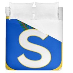 Badge Of The Finnish Civil Guard Duvet Cover (queen Size) by abbeyz71