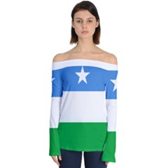 Flag Of Puntland Off Shoulder Long Sleeve Top