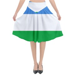 Flag Of Puntland Flared Midi Skirt