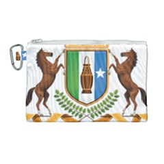 Coat Of Arms Of Puntland Canvas Cosmetic Bag (large) by abbeyz71