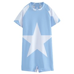 Flag Of Puntland, Pre 2009 Kids  Boyleg Half Suit Swimwear