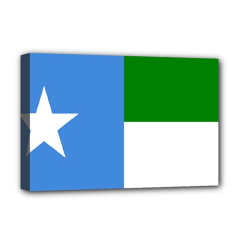 Flag Of West Puntland Deluxe Canvas 18  X 12  (stretched) by abbeyz71