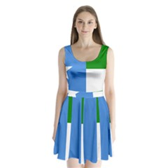 Flag Of West Puntland Split Back Mini Dress