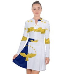 Flag Of Azores Long Sleeve Panel Dress by abbeyz71