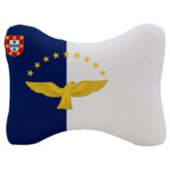 Flag Of Azores Velour Seat Head Rest Cushion by abbeyz71