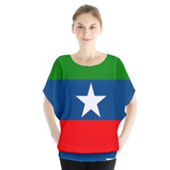 Flag Of Ogaden National Liberation Front Batwing Chiffon Blouse