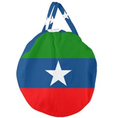 Flag Of Ogaden National Liberation Front Giant Round Zipper Tote by abbeyz71