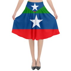 Flag Of Ogaden National Liberation Front Flared Midi Skirt