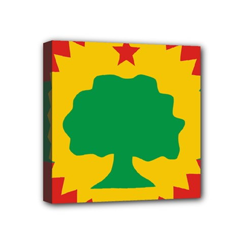 Flag Of Oromo Liberation Front Mini Canvas 4  X 4  (stretched) by abbeyz71