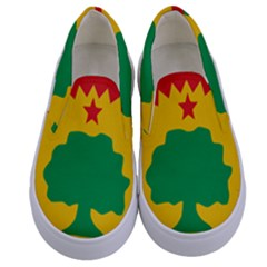 Flag Of Oromo Liberation Front Kids  Canvas Slip Ons