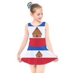 Flag Of Southern Nations, Nationalities, And Peoples  Region Of Ethiopia Kids  Skater Dress Swimsuit by abbeyz71