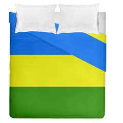 Flag Of Beja Congress Duvet Cover Double Side (queen Size)