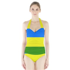 Flag Of Beja Congress Halter Swimsuit by abbeyz71
