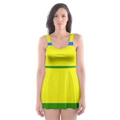 Flag Of Beja Congress Skater Dress Swimsuit