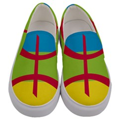 Berber Ethnic Flag Men s Canvas Slip Ons