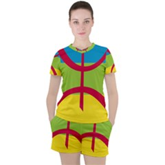 Berber Ethnic Flag Women s Tee And Shorts Set